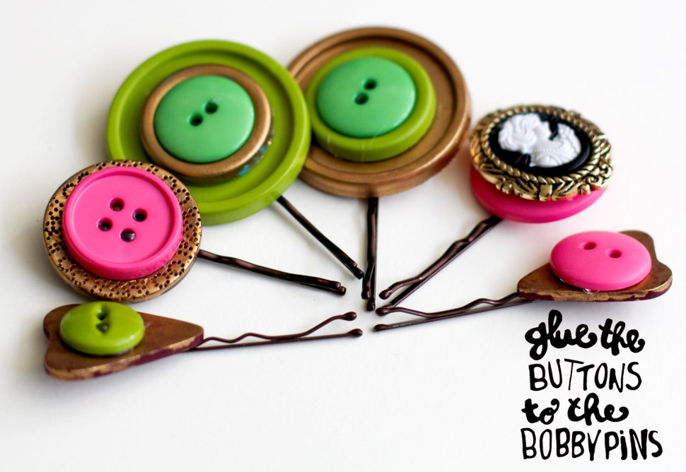 DIY decorated bobby pins
