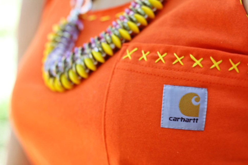 DIY Carhartt men's Tee