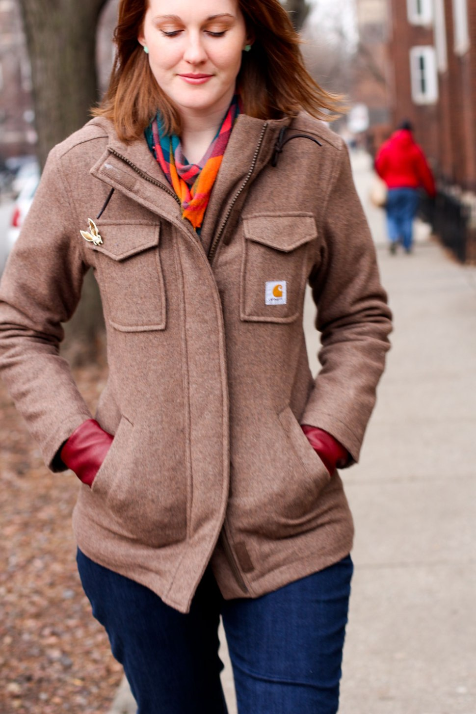 DIY elbow patches and Carhartt