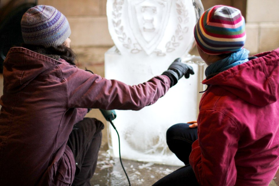 ice carving and Carhartt