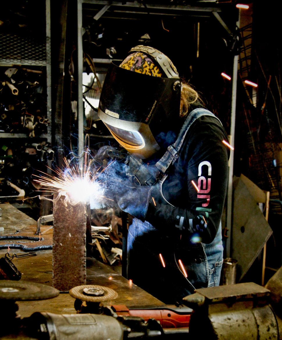 welding and Carhartt