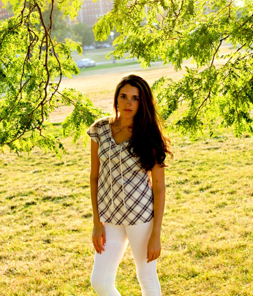 woven plaid Carhartt shirt