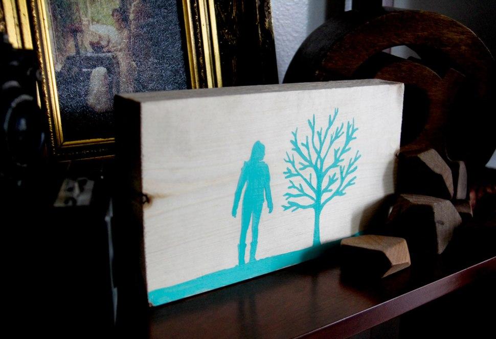 DIY silhouette panel