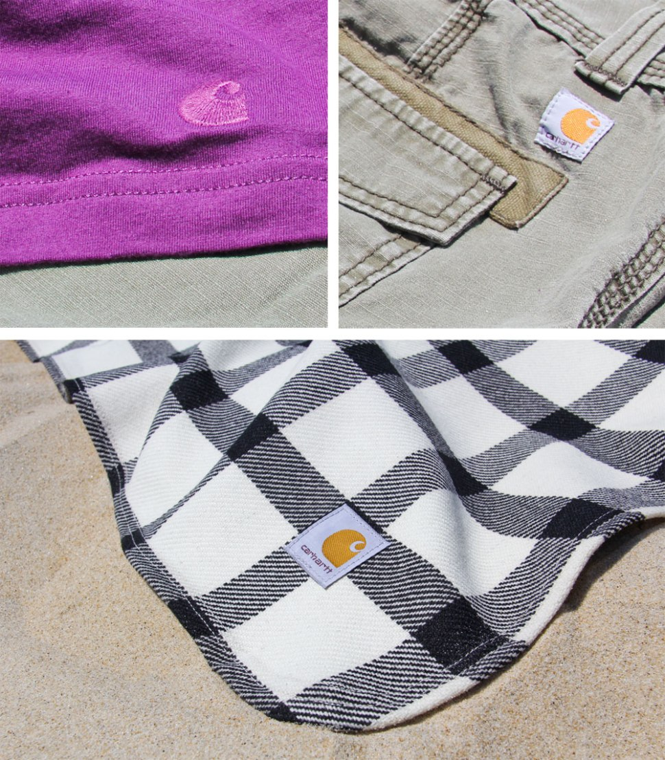 DIY Carhartt beach blanket pocket