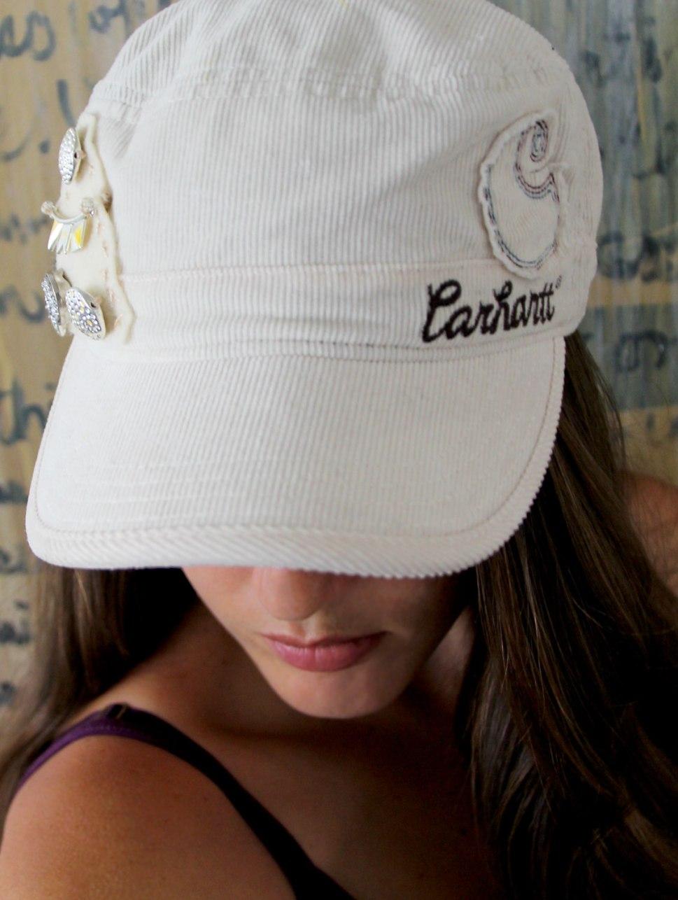 DIY beaded Carhartt hat