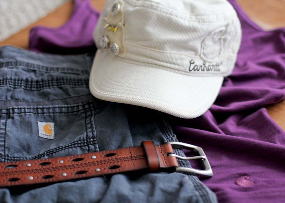 DIY beaded Carhartt hat