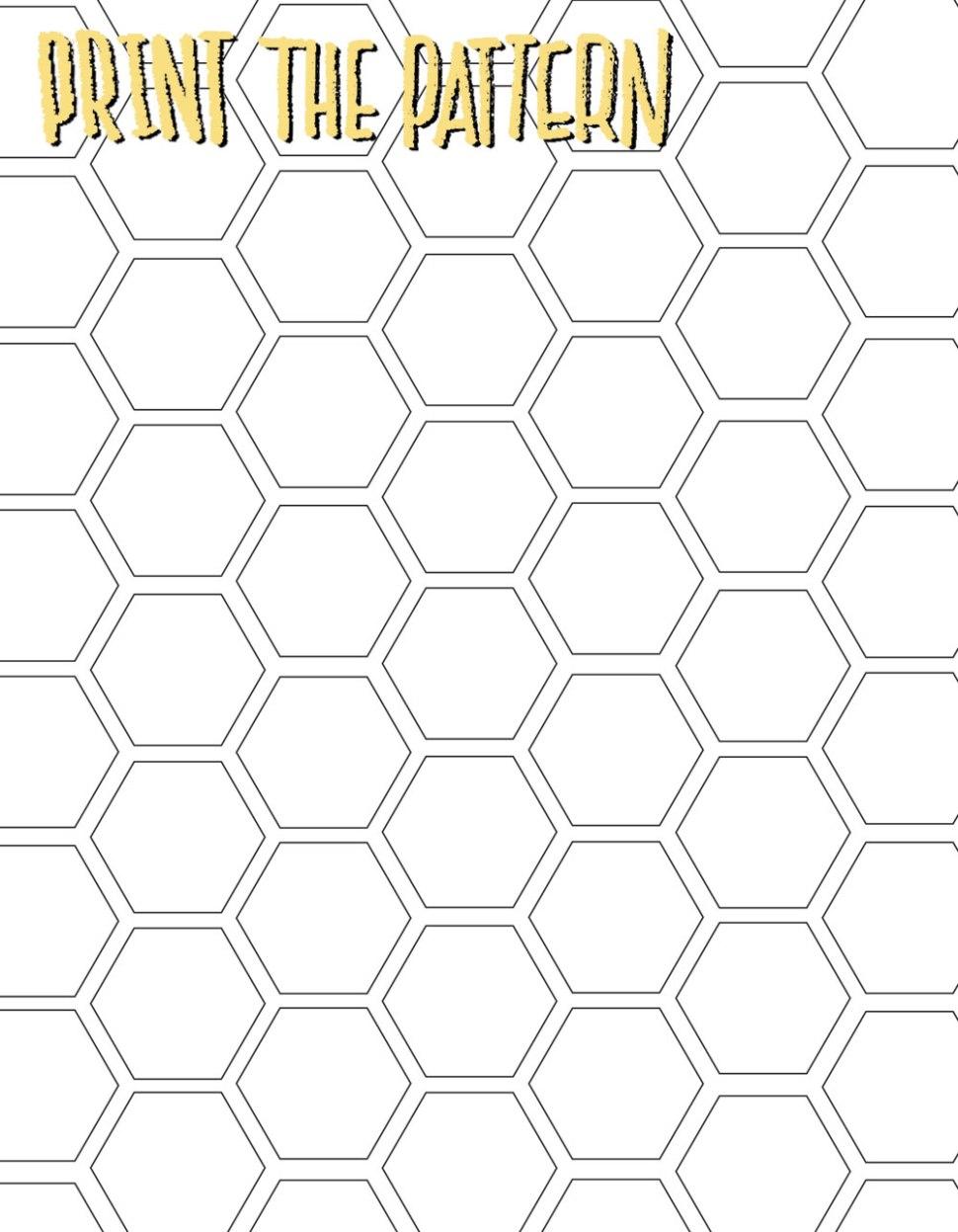 DIY: Honeycomb Print