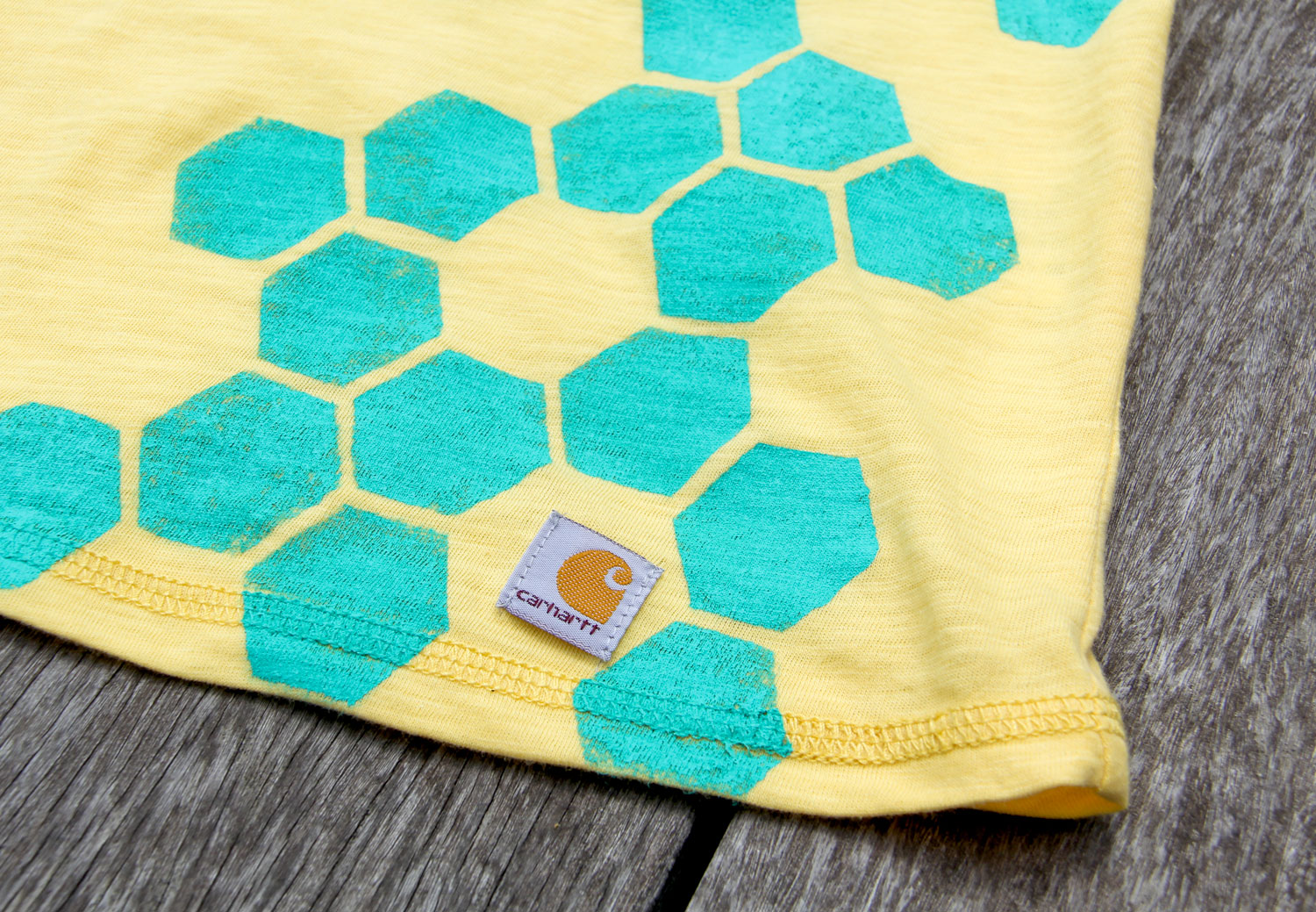 Diy honeycomb print crafted in carhartt for Diy screen printing t shirts
