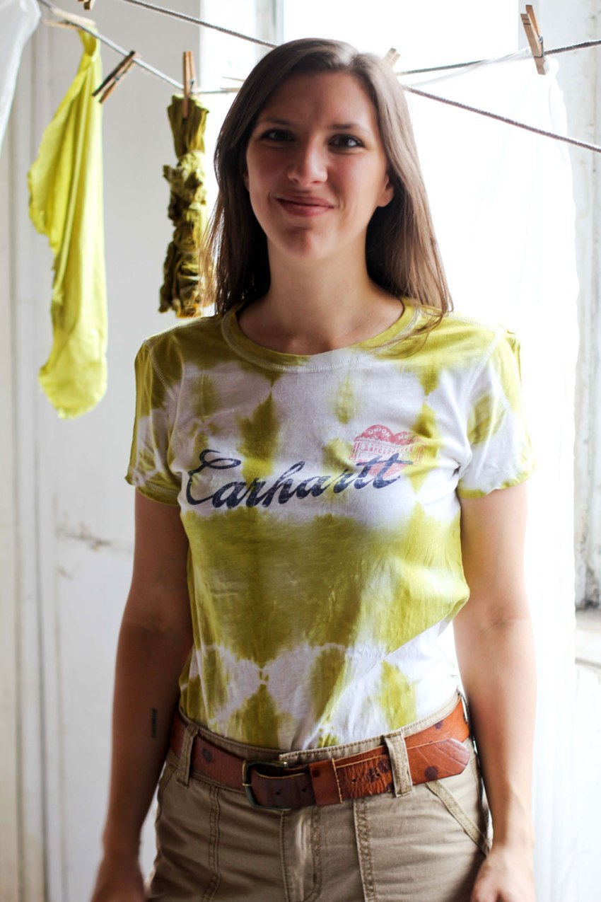 DIY natural onion dyed T-shirt