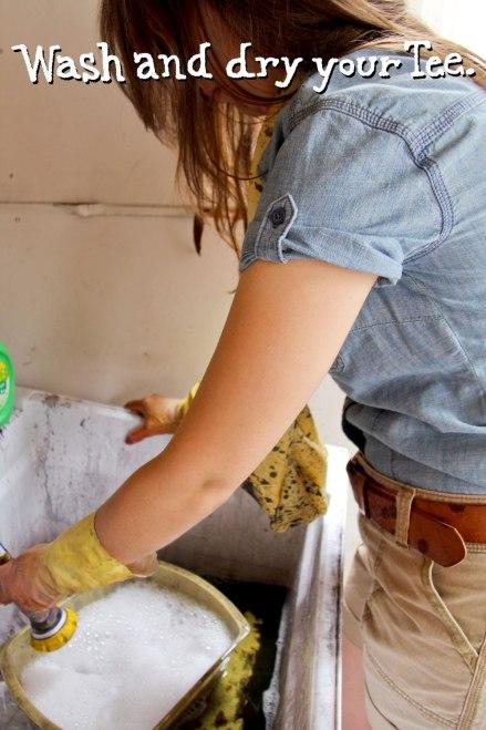DIY natural onion dyed T-shirt