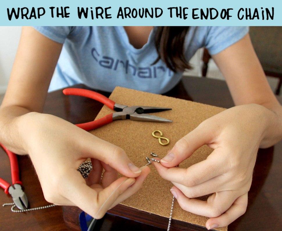 DIY infinit bracelet
