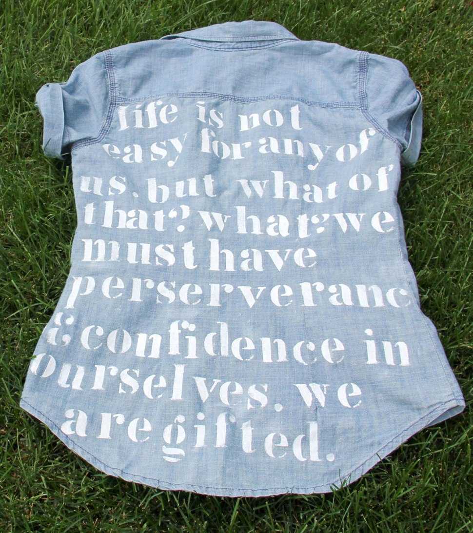 DIY quote shirt