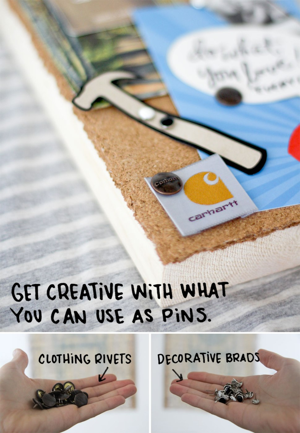 DIY mini bulletin board