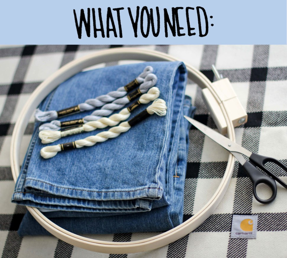 DIY embroidery and Carhartt