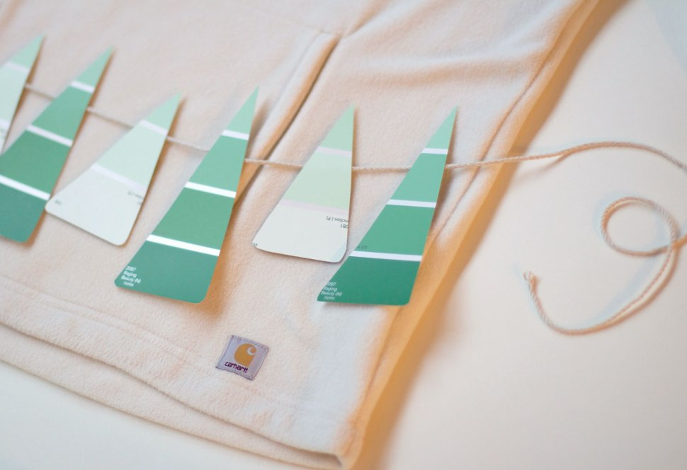 DIY paint strip Christmas garland