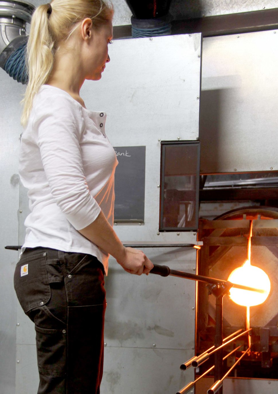 Glassblowing and Carhartt