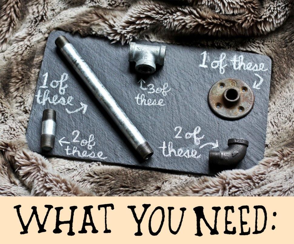 DIY hardware candelabra