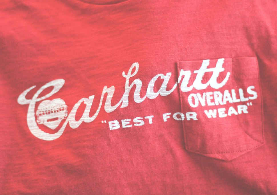 Crafted in Carhartt DIY: wire words