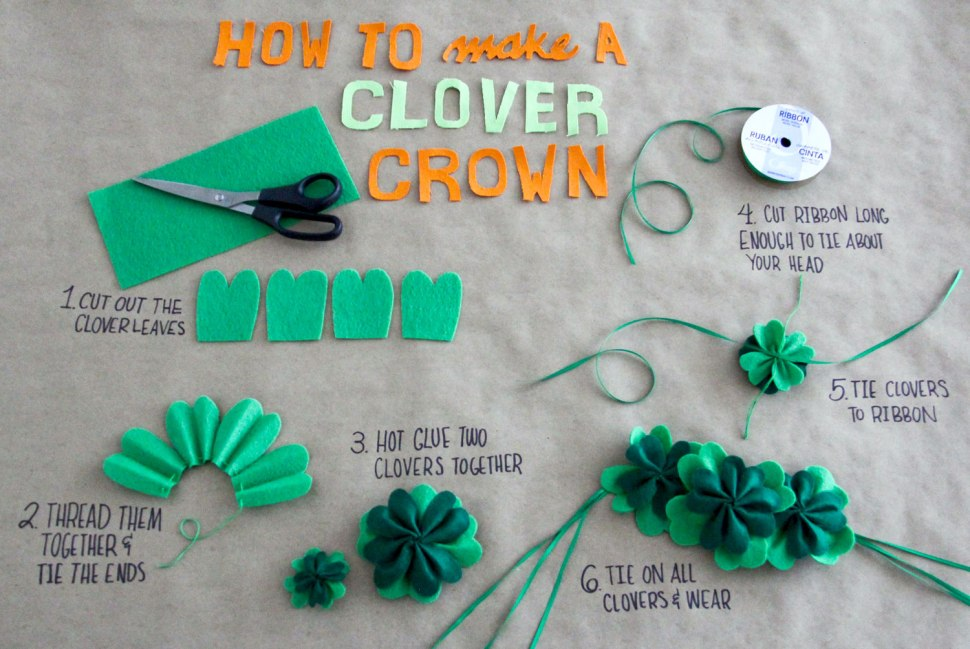 DIY Clover Crown - Crafted in Carhartt