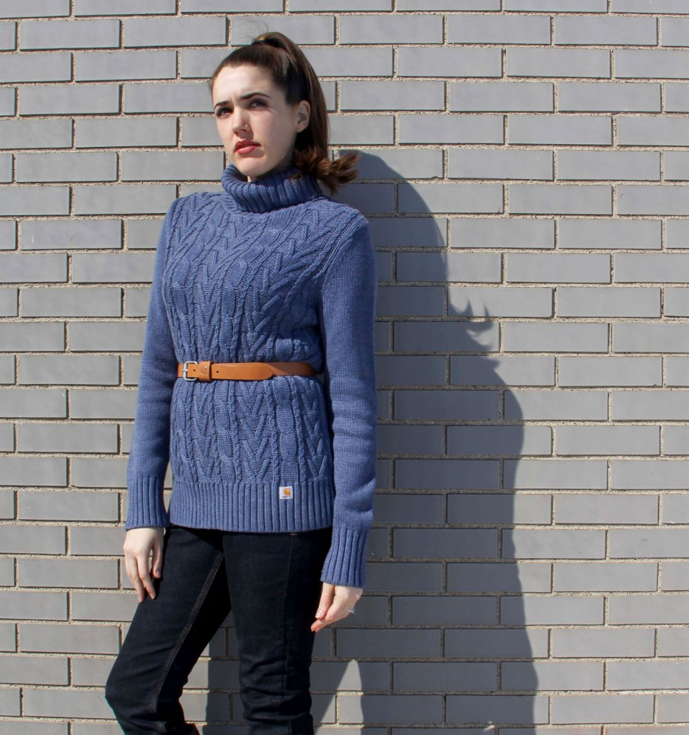 how to wear an oversized sweater -- Crafted in Carhartt