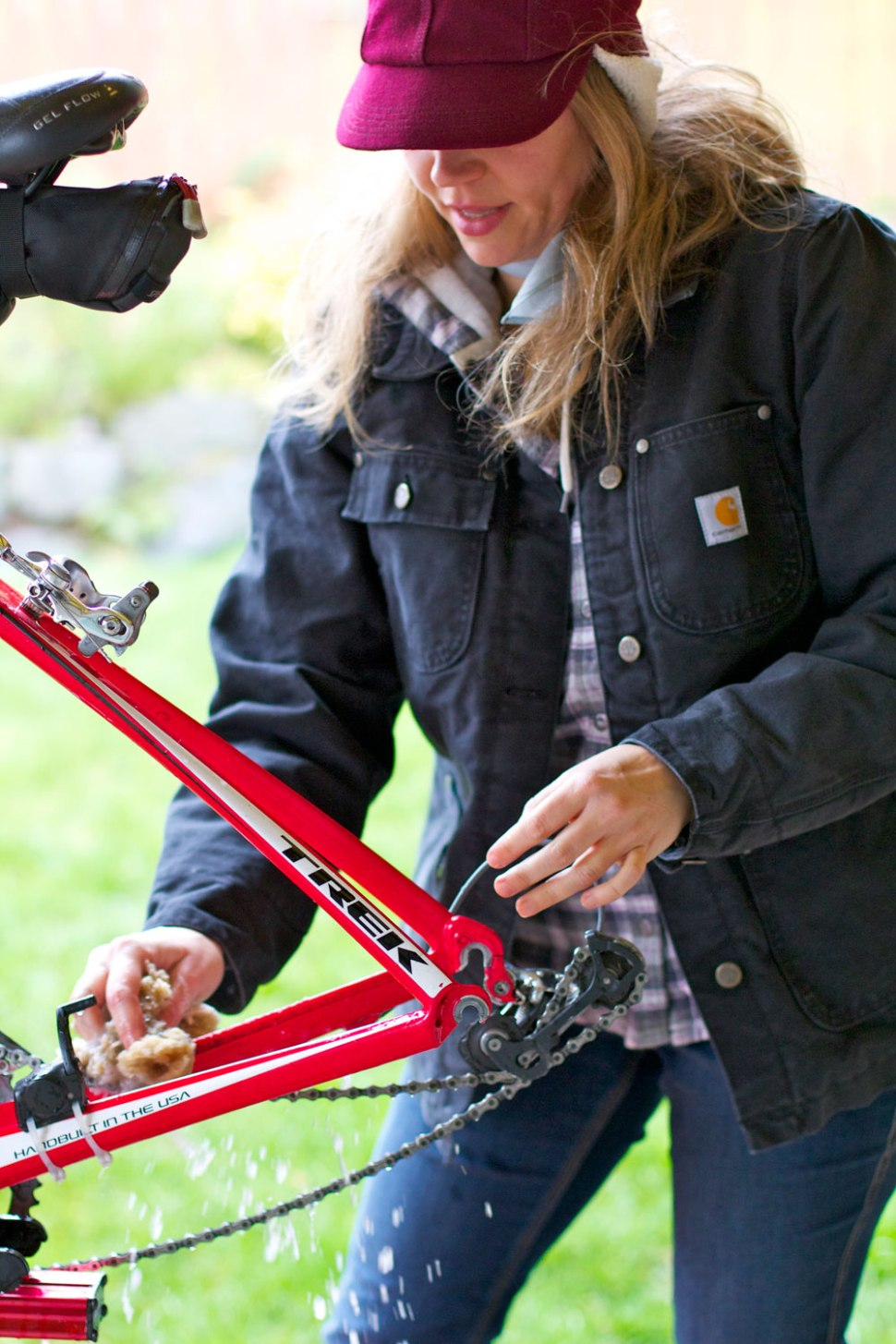 Crafted in Carhartt -- bike maintenance
