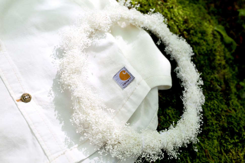DIY Baby's Breath Crown on Crafted in Carhartt