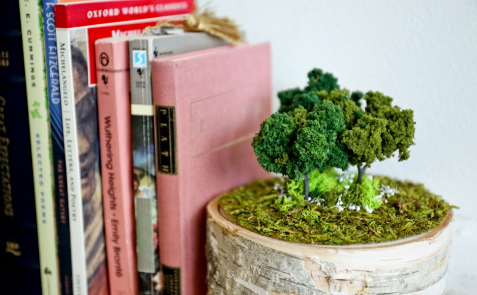 DIY Mossy Bookend on Crafted in Carhartt