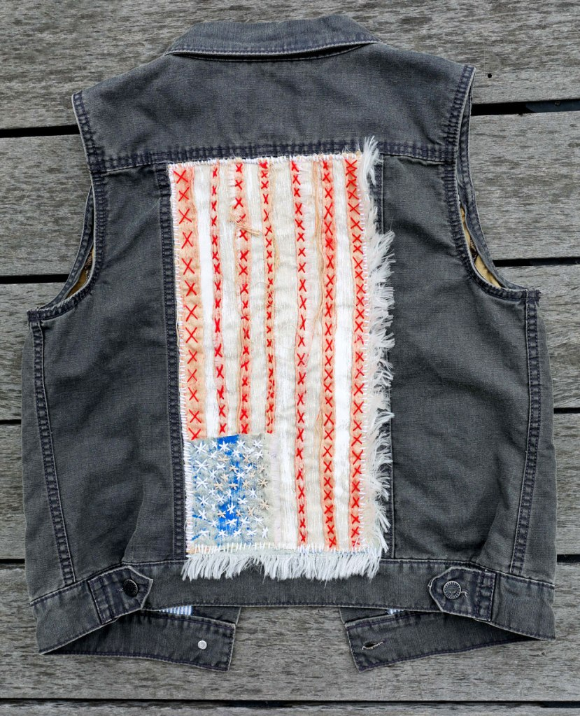 American Flag Vest / Crafted in Carhartt