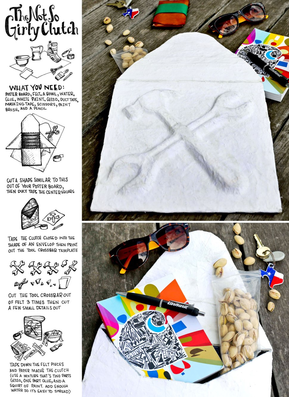 DIY The Not So Girly Clutch / Crafted in Carhartt