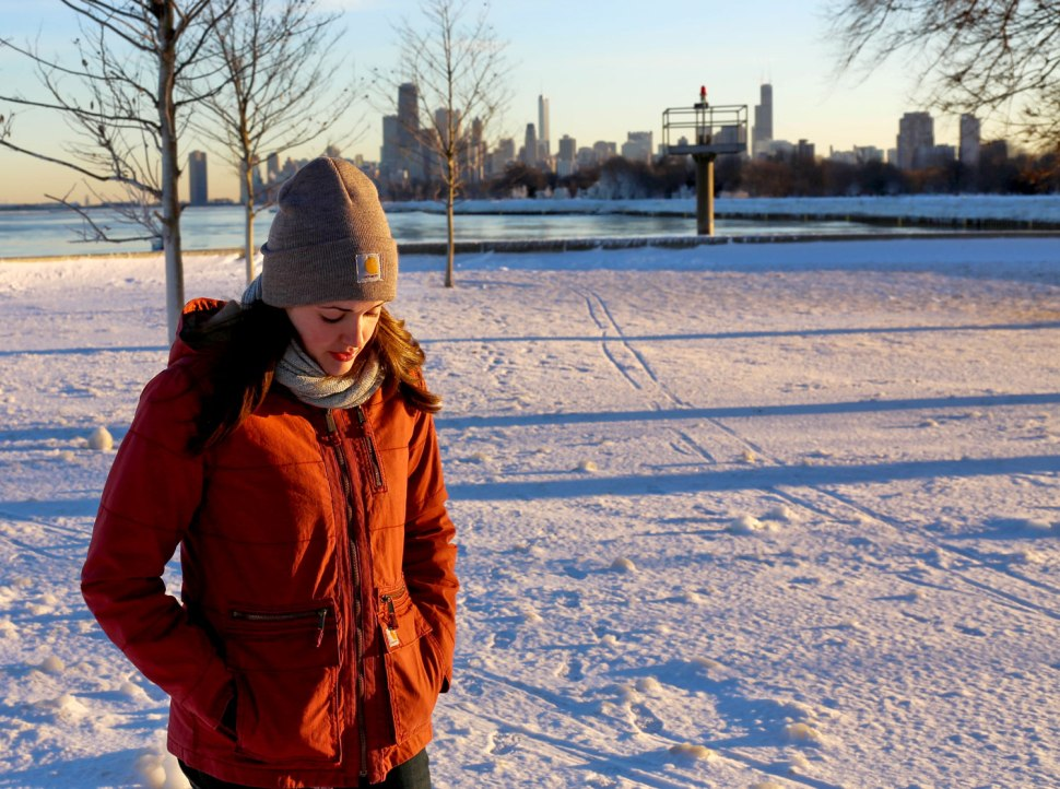 Carhartt in a snowstorm / Crafted in Carhartt