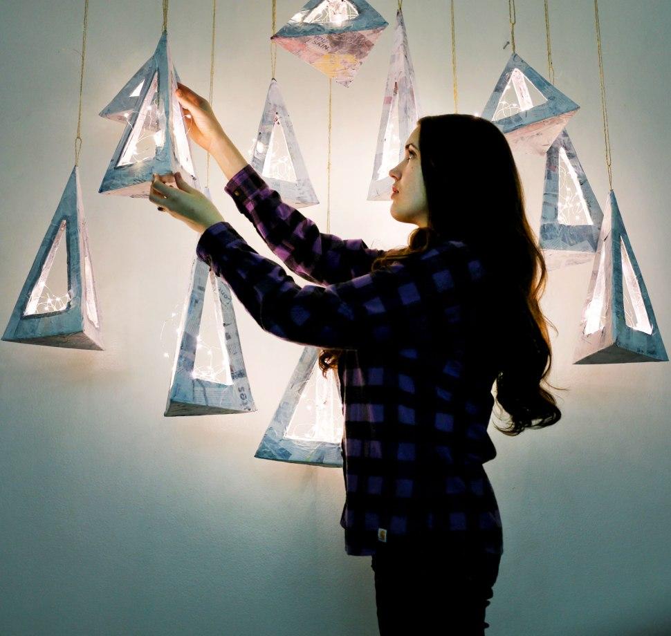 DIY Geometric Lantern / Crafted in Carhartt