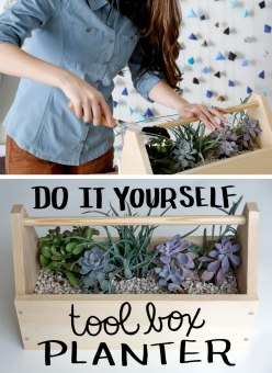 Tool Box Planter DIY / Crafted in Carhartt