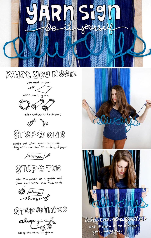 DIY Yarn Hanging / Crafted in Carhartt