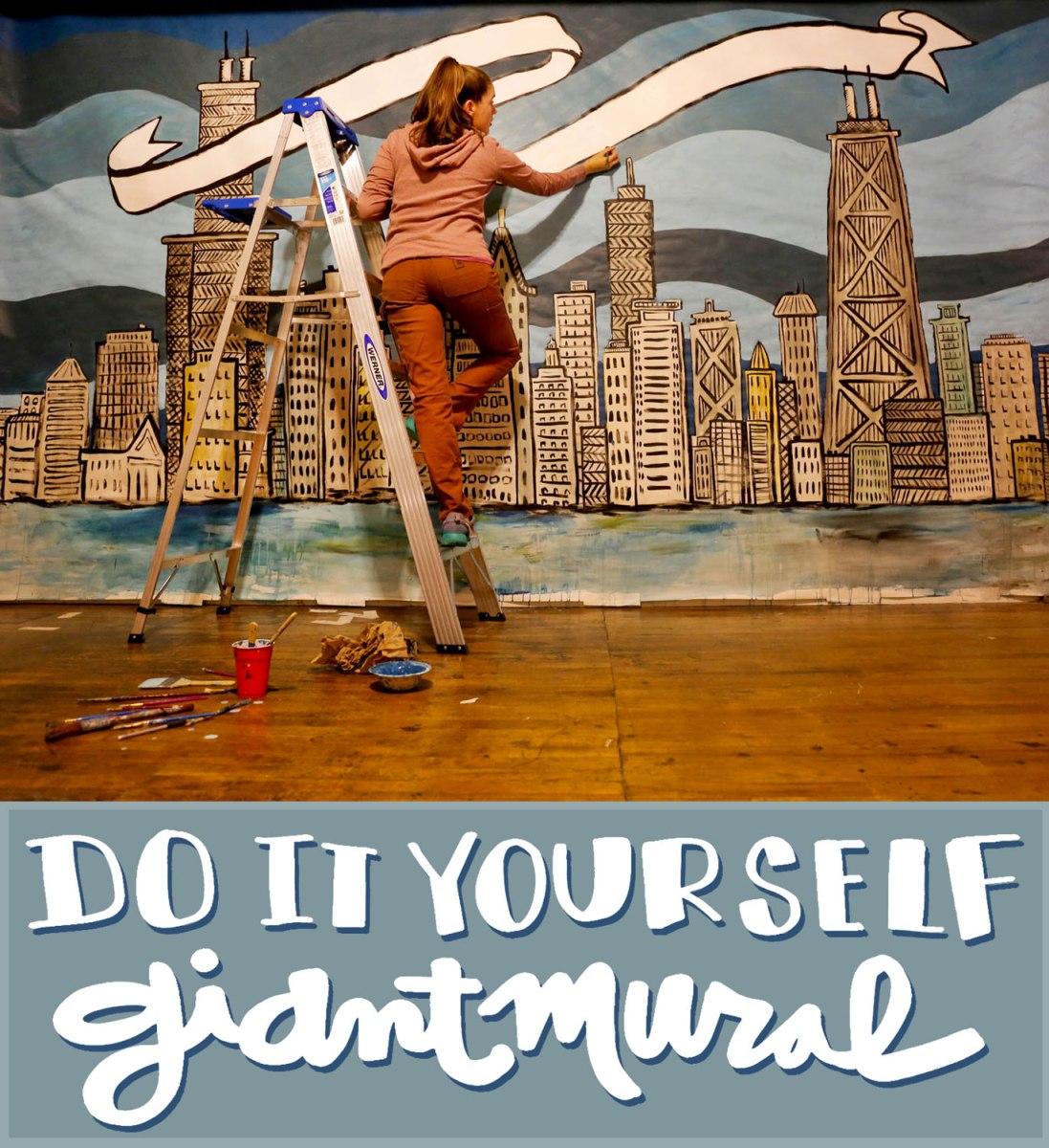 Diy giant mural crafted in carhartt solutioingenieria Gallery