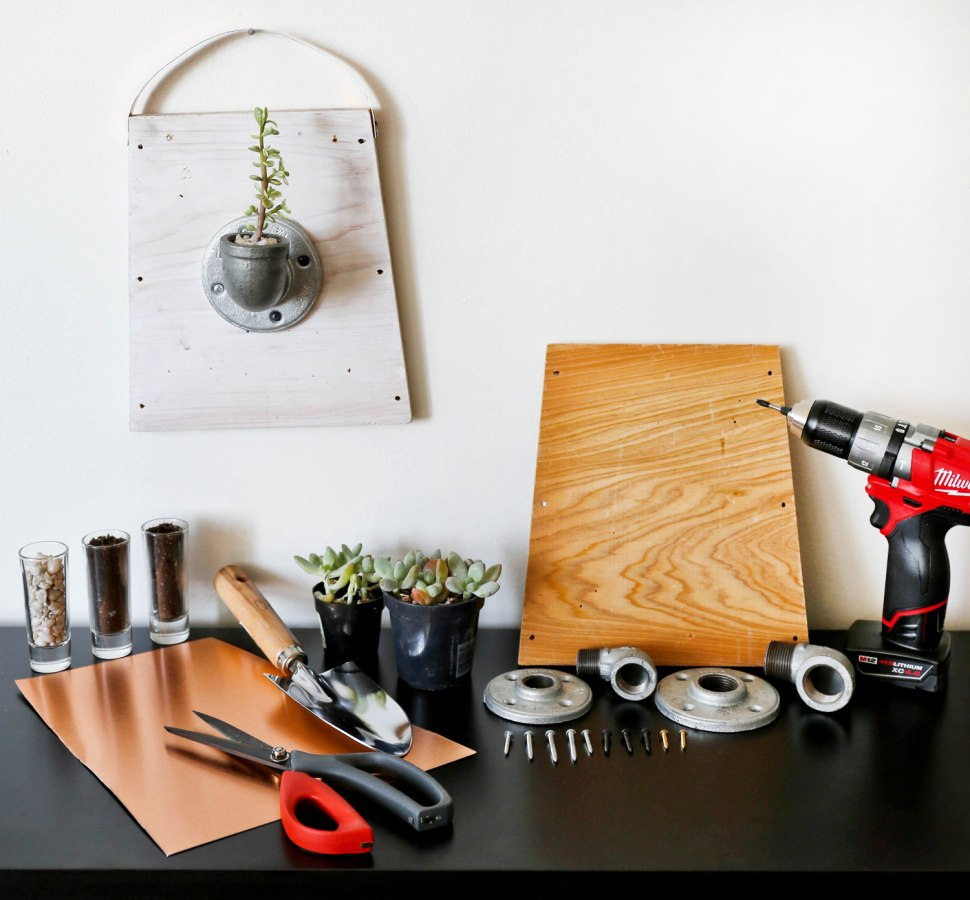 DIY Pipe Planter / Crafted in Carhartt