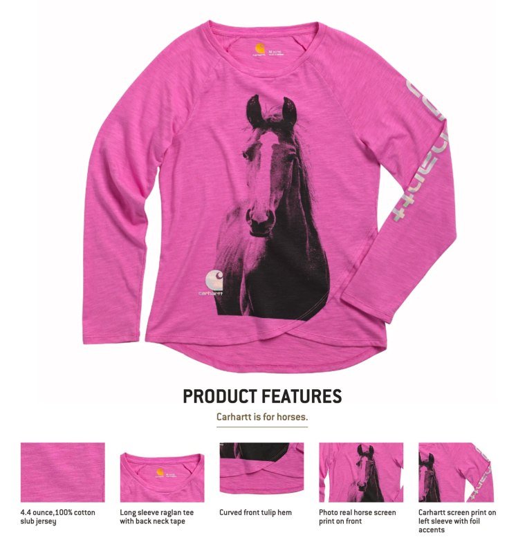 Pint Sized Horse Lover / Crafted in Carhartt