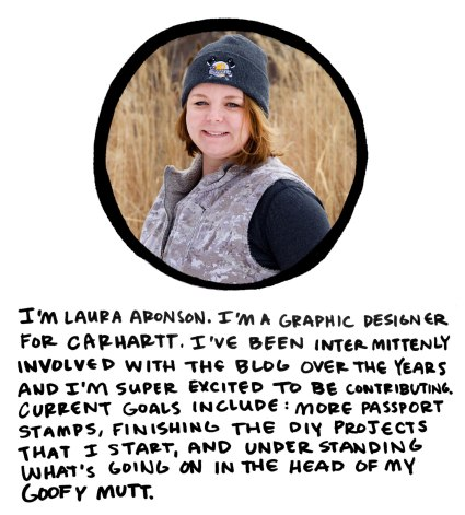 Laura Aronson on Crafted in Carhartt
