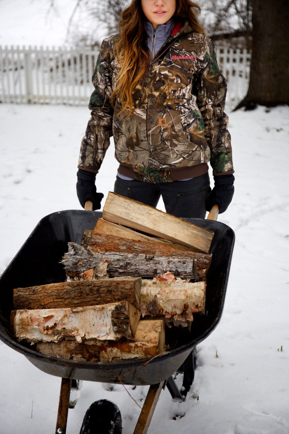Winter Chores & Carhartt Camo Active Jac / Crafted in Carhartt
