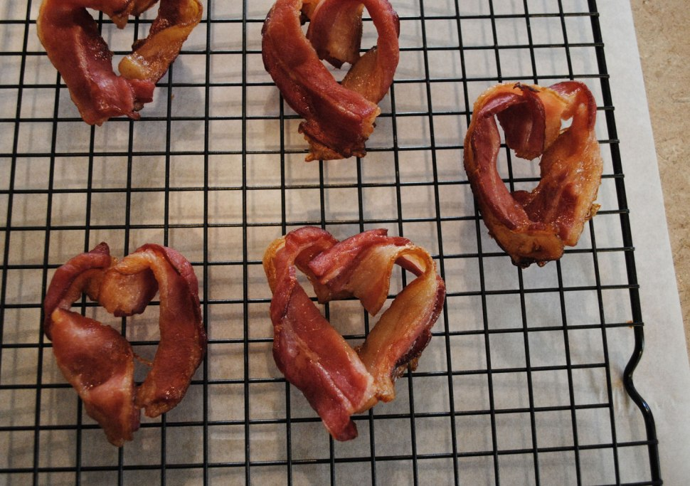 Bacon in Love / DIY Bacon Hearts