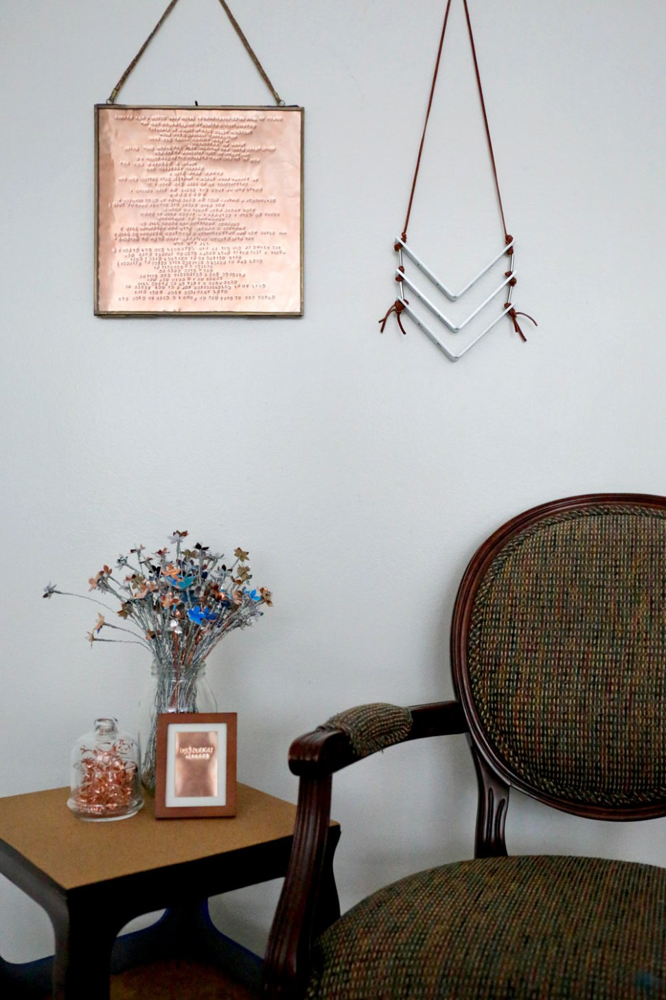 DIY Chevron Wall Hanging / Crafted in Carhartt