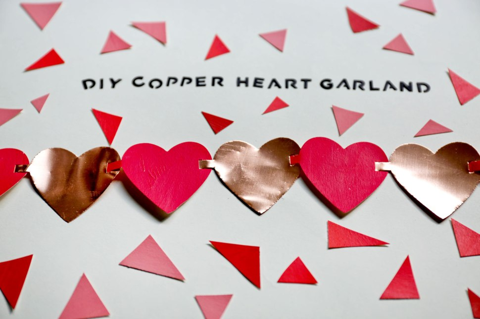 DIY Copper Heart Garland / Crafted in Carhartt