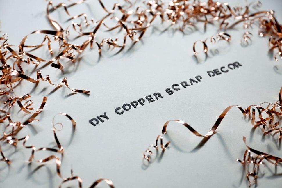 DIY Copper Scrap Decor / Crafted in Carhartt