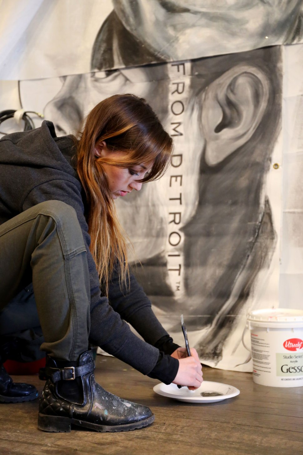 Detroit Artist, Michelle Tanguay / Crafted in Carhartt