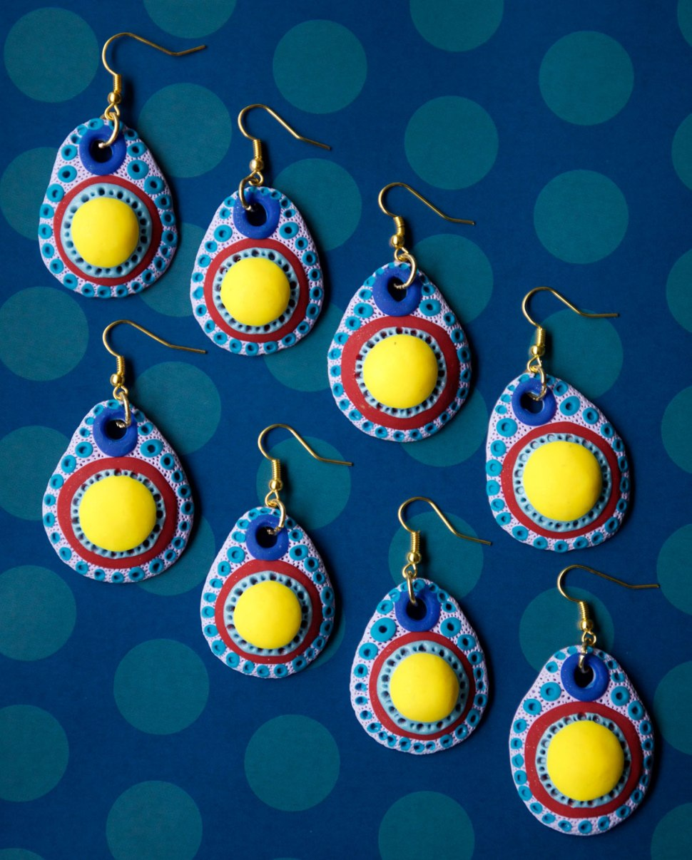 DIY Polymer Earrings / Crafted in Carhartt