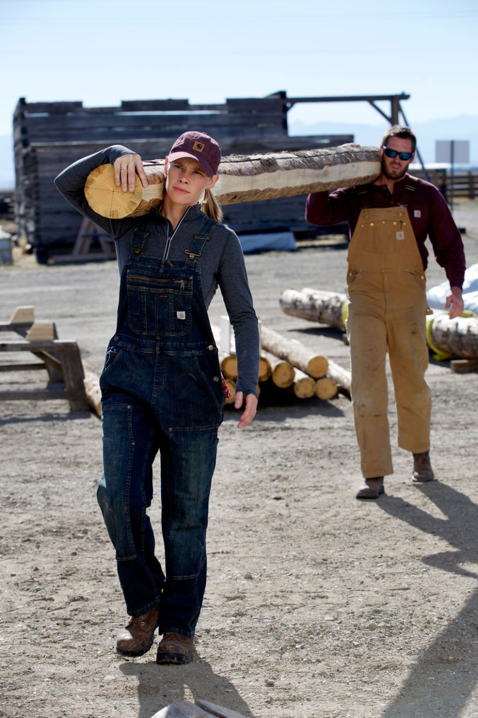 Amber Williams, Carpenter and Timber Production Manager at OSM in Bozeman, Montana / Crafted in Carhartt