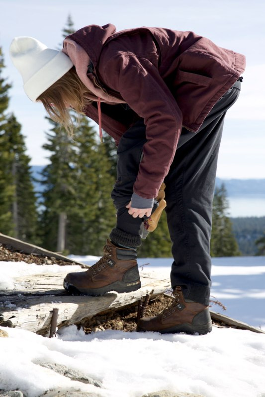 Lift Mechanic, Snow Groomer, and Revegetation Technician Kristen Loftis / Crafted in Carhartt