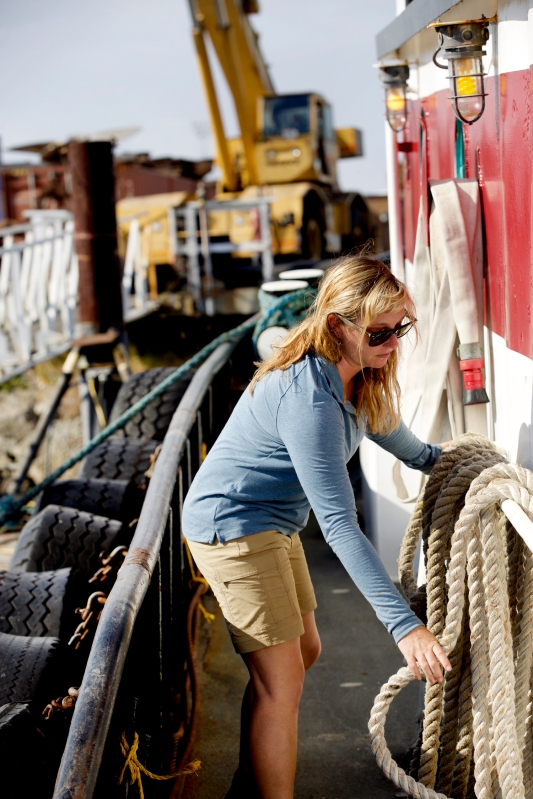 Tugboat Captain Michelle Walford / Crafted in Carhartt