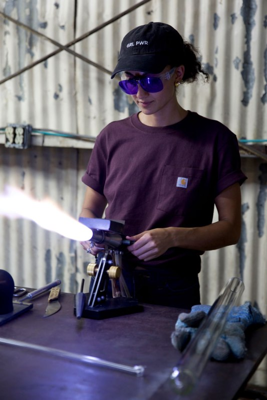 Glassblower Sibelle Yuksek / Crafted in Carhartt