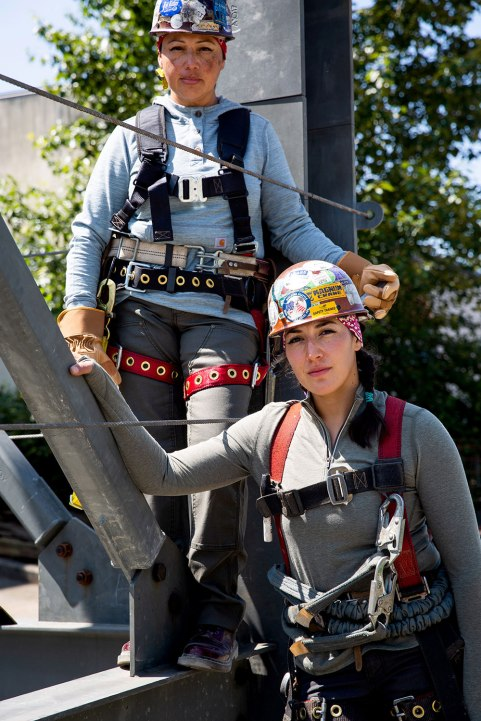 Mother Daughter Ironworkers, Carolina and Kat / Crafted in Carhartt